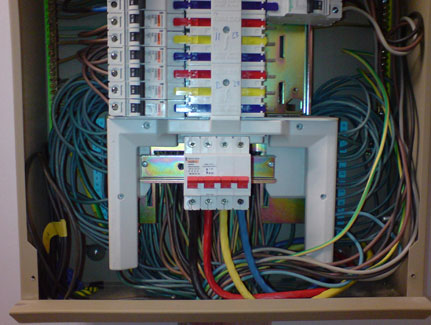 visual image of distribution board