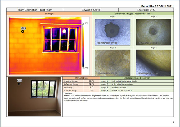 Using the combination of thermography and an endoscope to for Thermal imaging report template